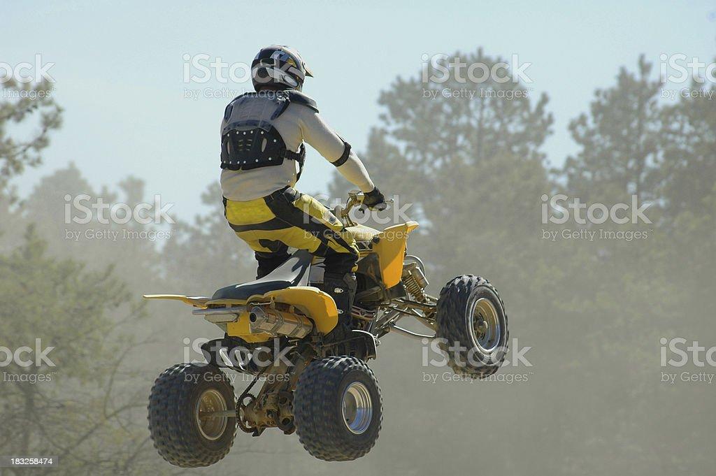 jumping quad royalty-free stock photo