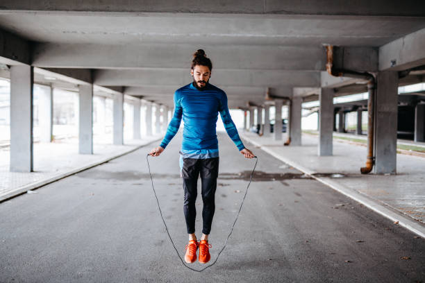 jumping rope - milan2099 stock photos and pictures