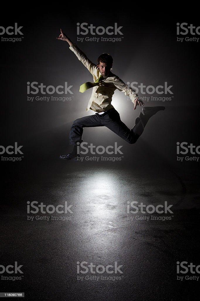 Jumping Shadows royalty-free stock photo