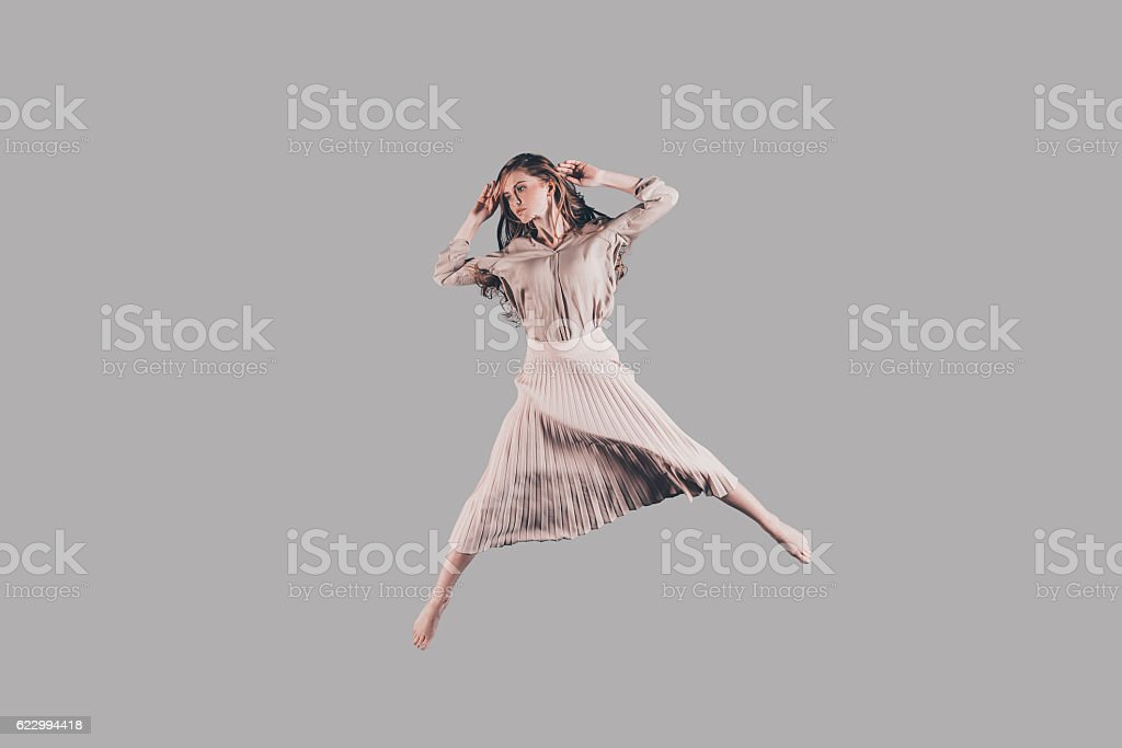 Jumping so high. stock photo