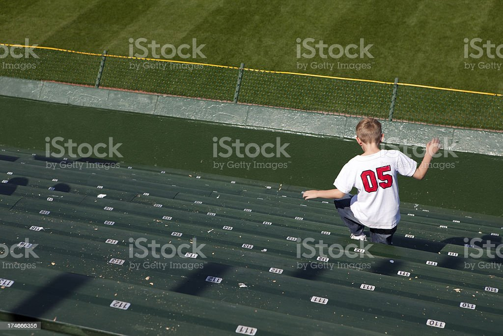 Jumping Stadium Rows stock photo