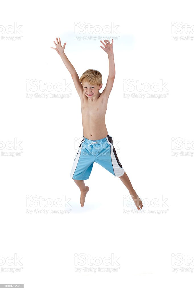 Jumping Swimmer royalty-free stock photo