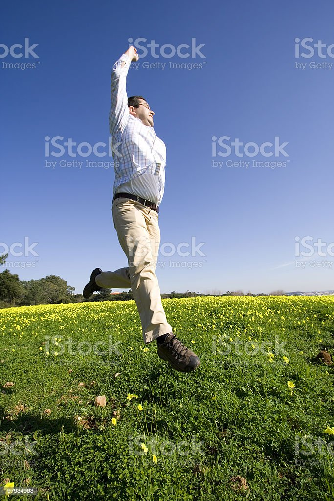 Jumping to sucess royalty-free stock photo