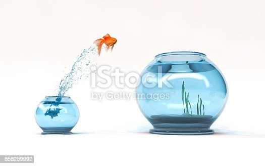 istock Jumping to the highest level 858259992