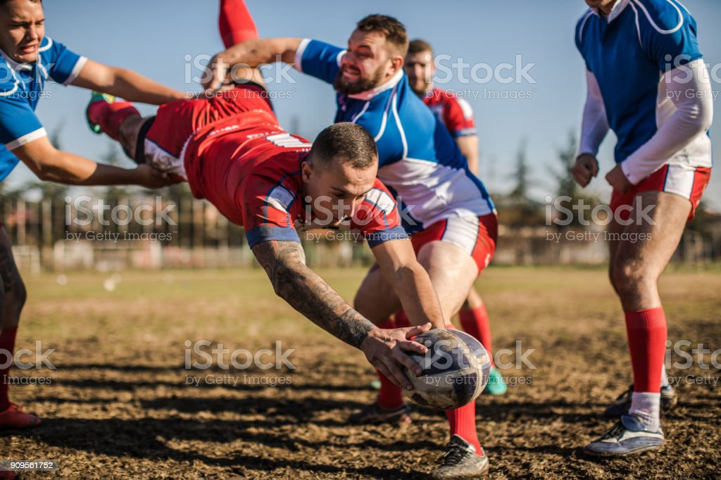 Jumping to win stock photo