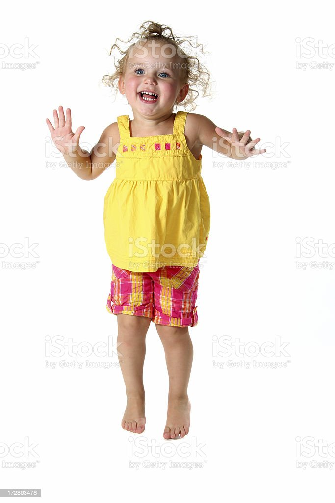 Jumping Toddler royalty-free stock photo