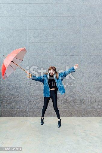 Jumping with Umbrella
