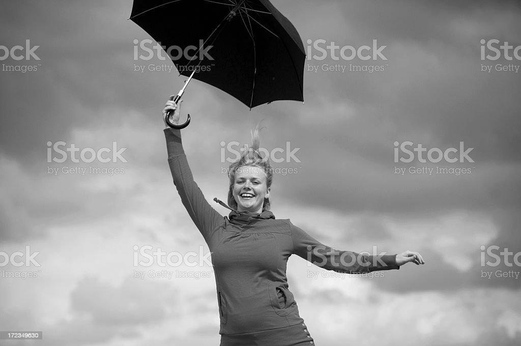 Salto con sombrilla foto de stock libre de derechos