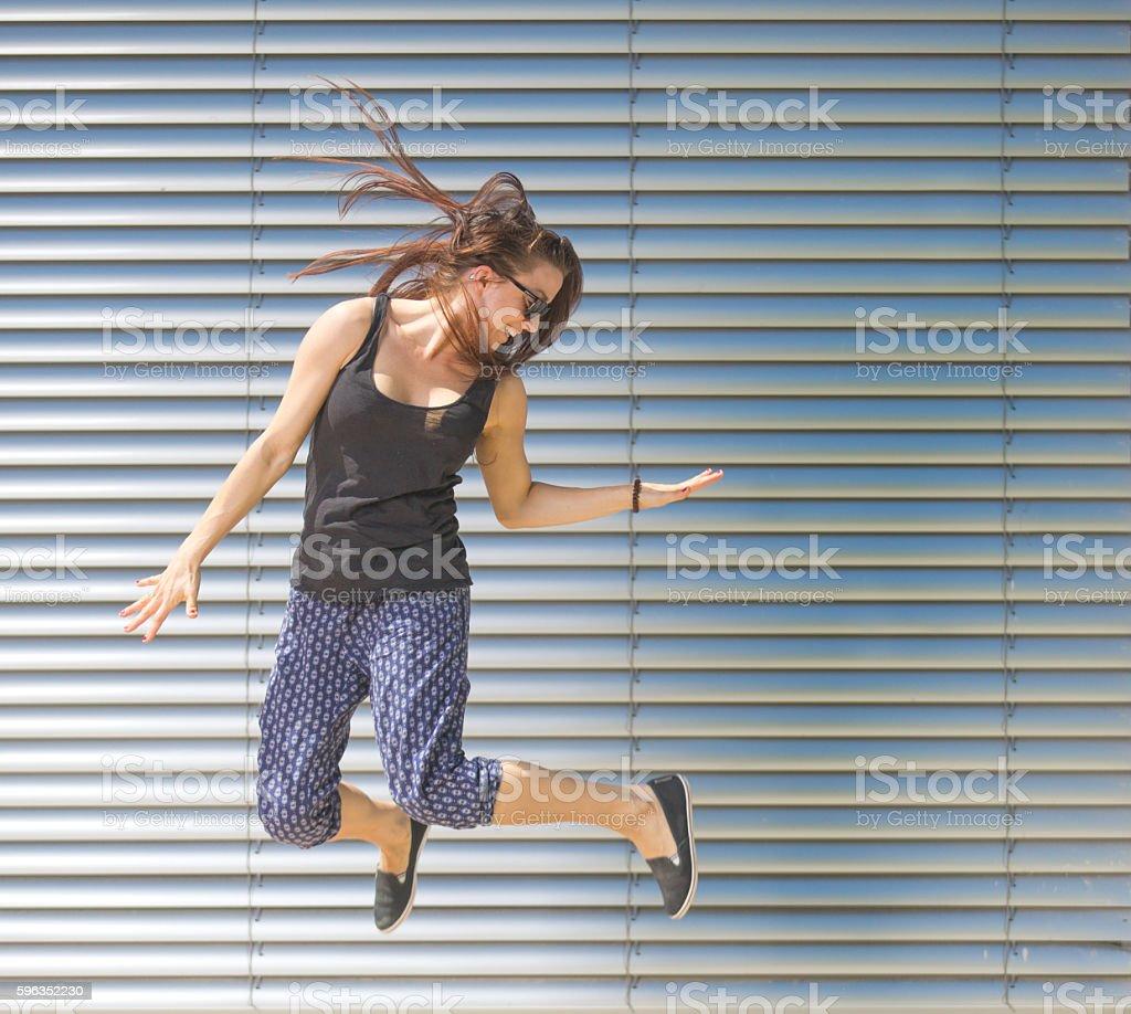 Jumping Women Lizenzfreies stock-foto