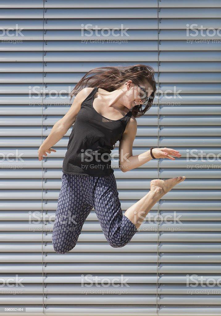Jumping Women royalty-free stock photo