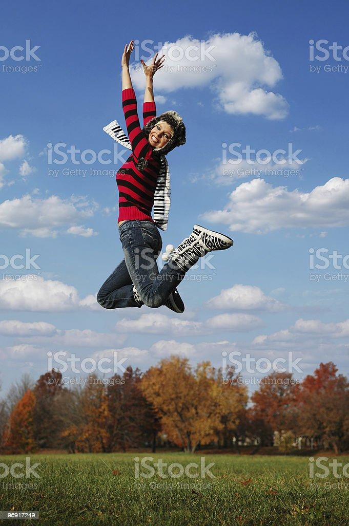 jumpinp girl royalty-free stock photo