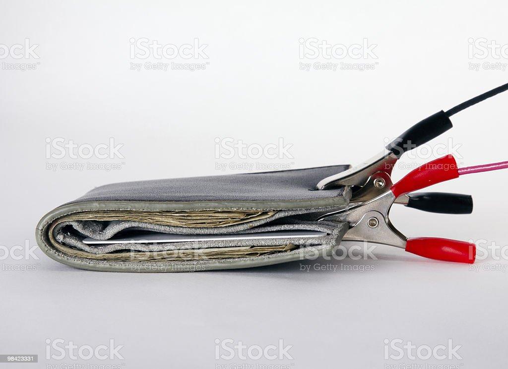 Jumpstart the Wallet royalty-free stock photo