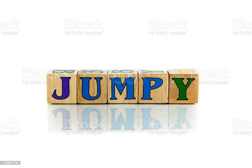 jumpy stock photo