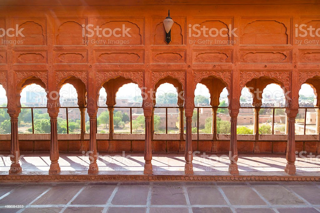 Junagarh Fort in city of Bikaner rajasthan state in india stock photo