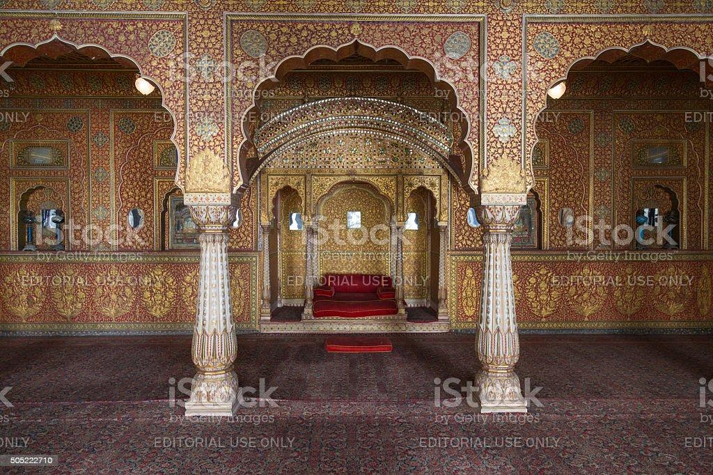 Junagarh fort interior, Bikaner, India stock photo