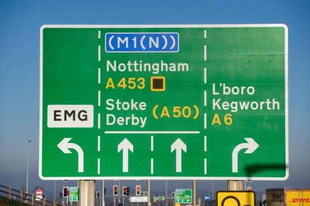 M1 Junction 24 für East Midlands und neuer Gateway Freight Rail Hub. – Foto