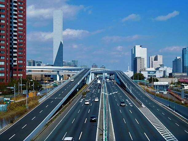 Der Kreuzung zwischen den Autobahnen in Tokio – Foto