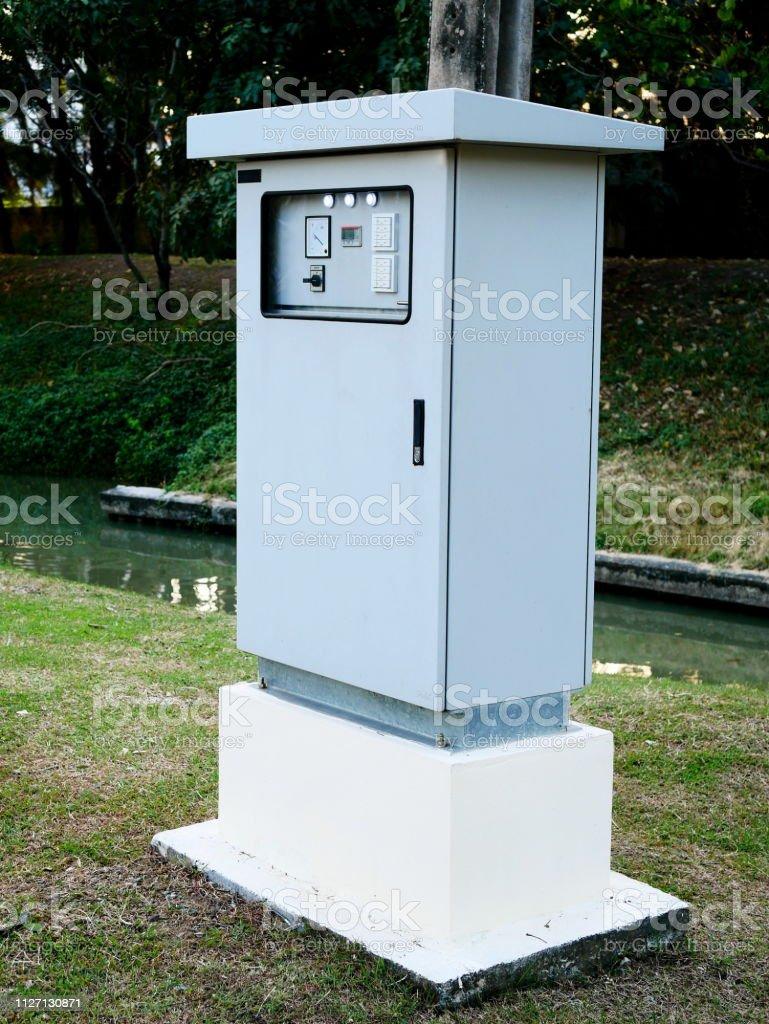 Junction box stock photo