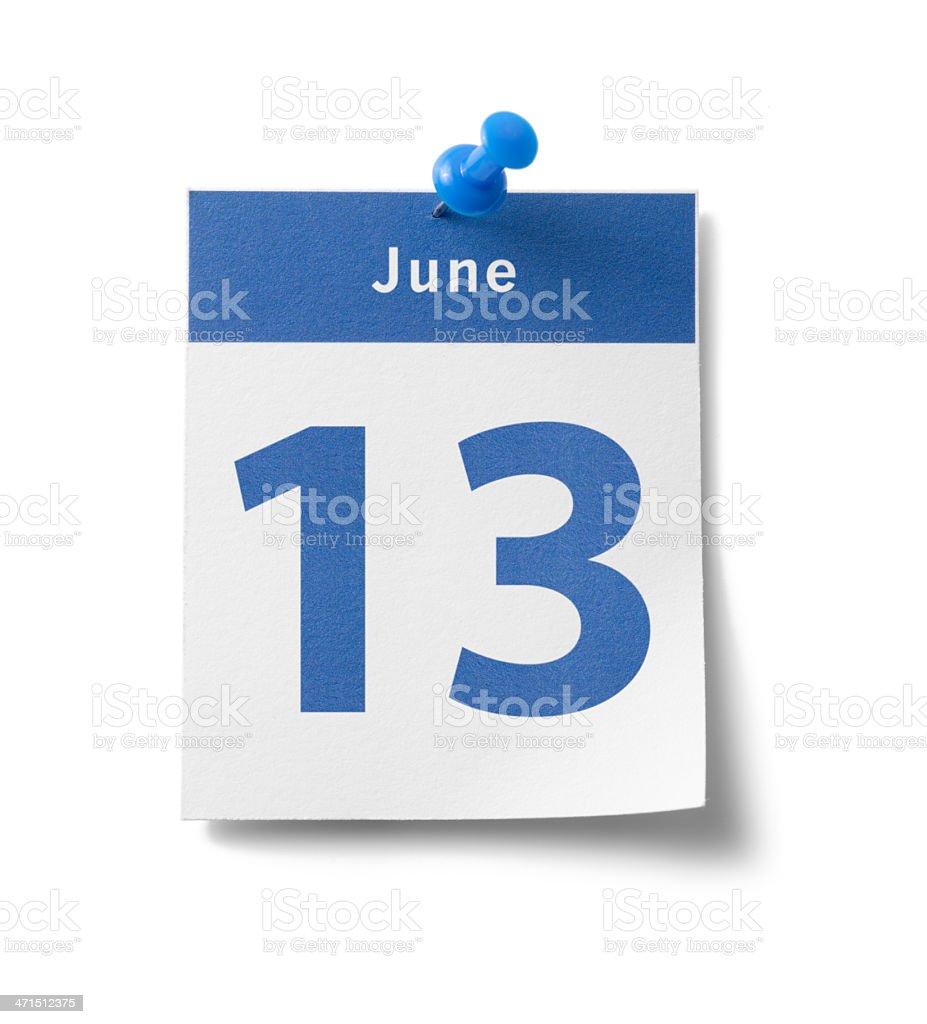 June 13th stock photo