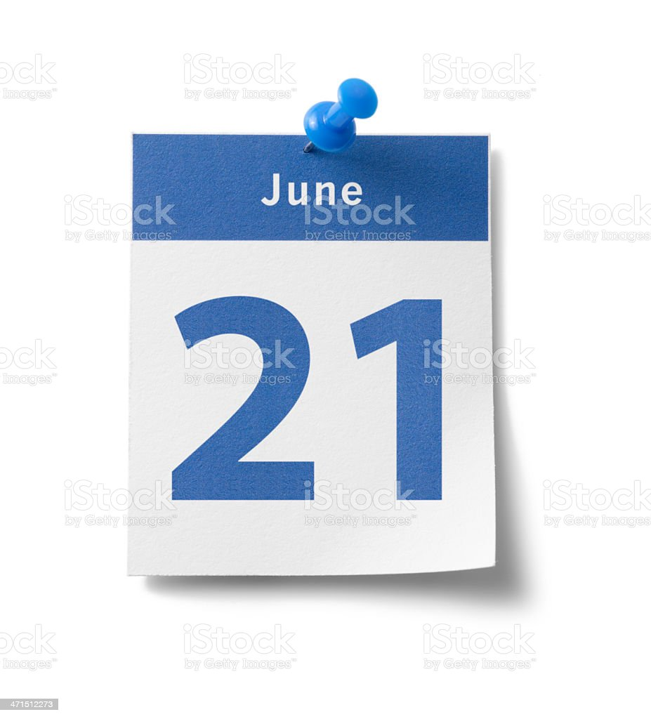 June 21st royalty-free stock photo