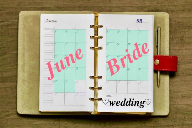 June Bride 六月の花嫁 メモ stock pictures, royalty-free photos & images