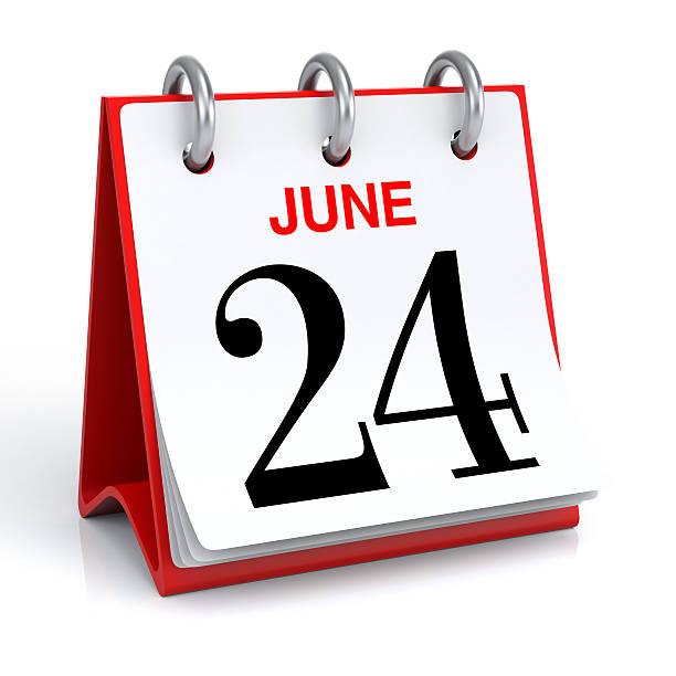 calendrier du mois de juin - nombre 24 photos et images de collection