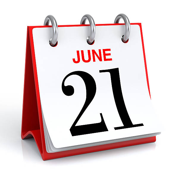 june calendar - number 21 stock photos and pictures