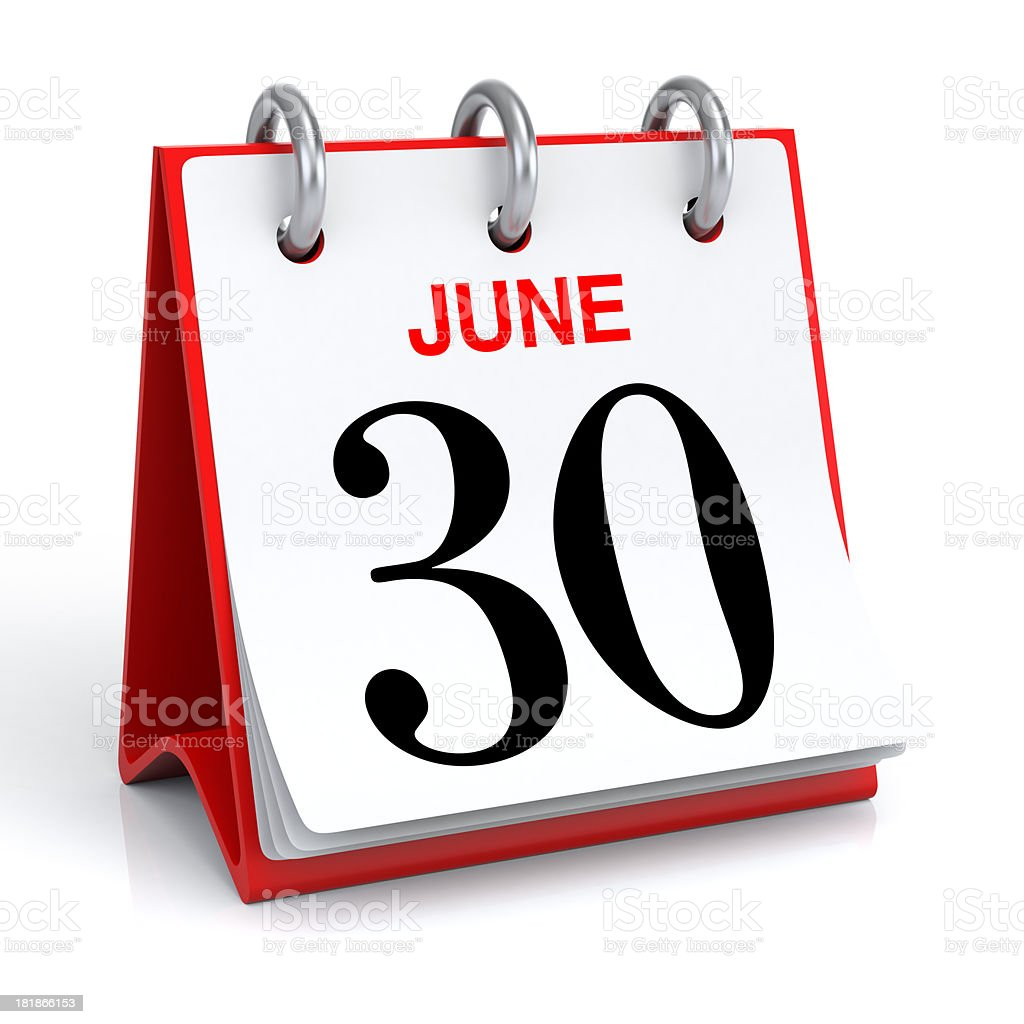June Calendar stock photo