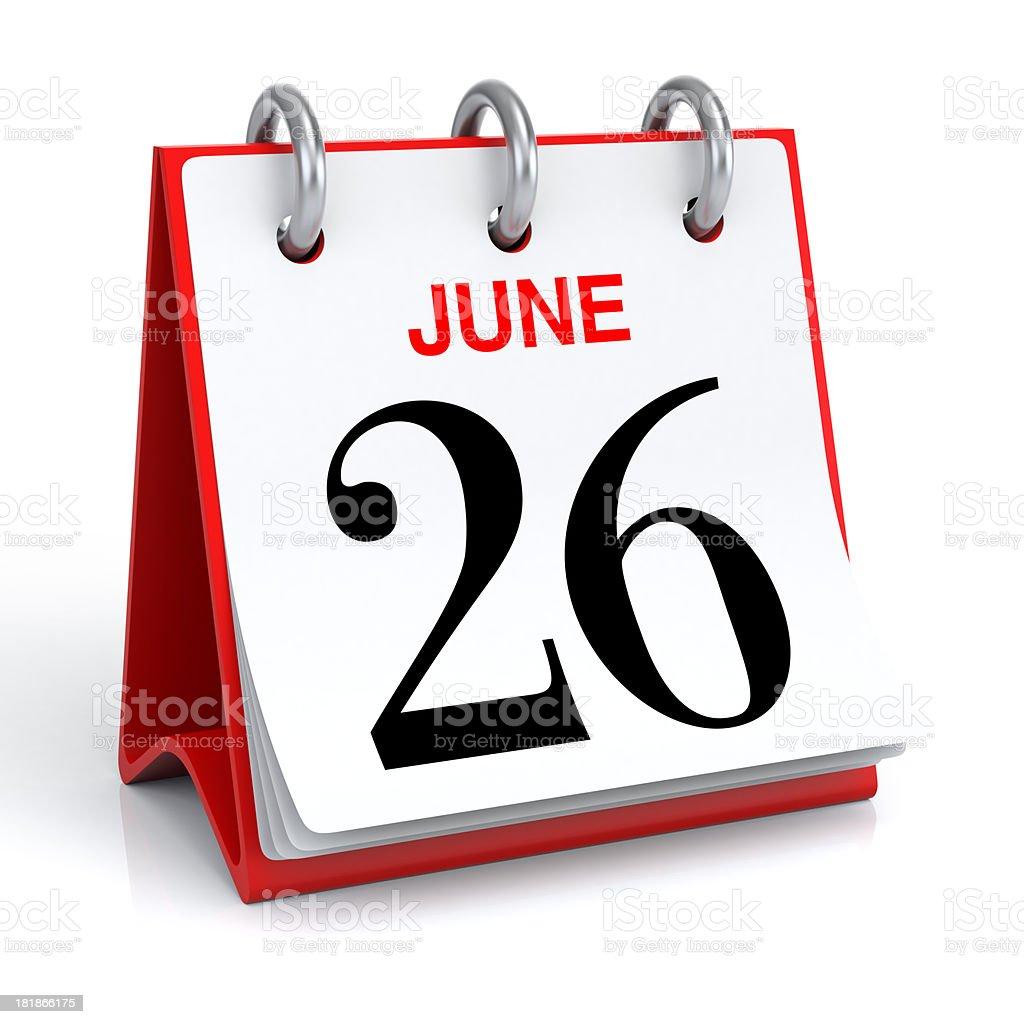 June Calendar stock photo