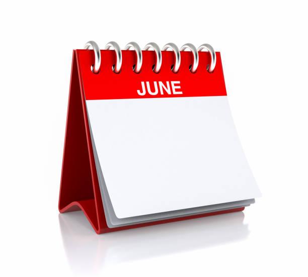 calendrier du mois de juin - calendrier digital journée photos et images de collection