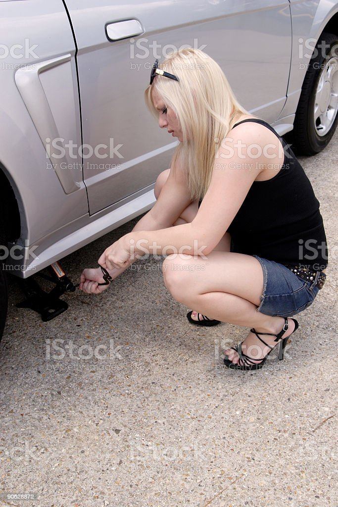 June: Changing a flat. royalty-free stock photo