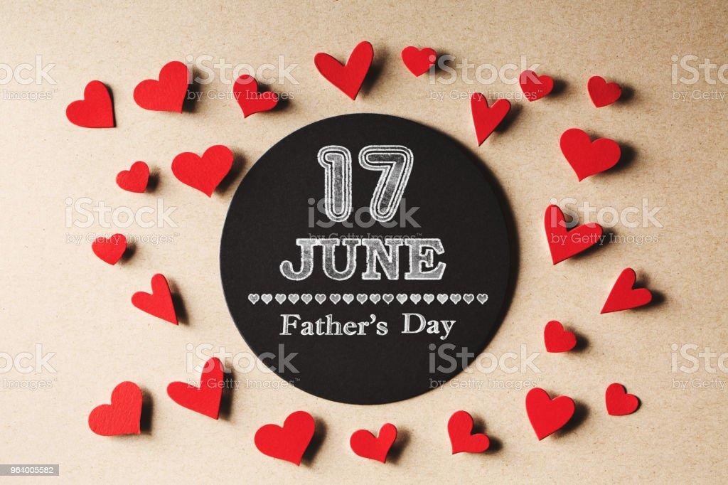 小さな心で 6 月 17 日父の日メッセージ - 17世紀のロイヤリティフリーストックフォト