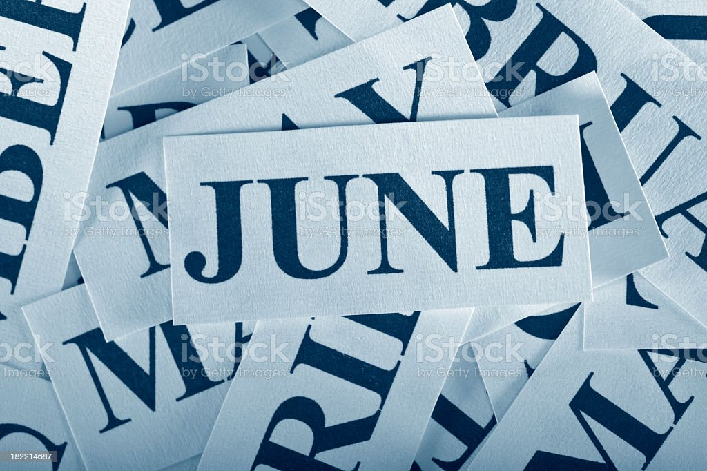 June royalty-free stock photo