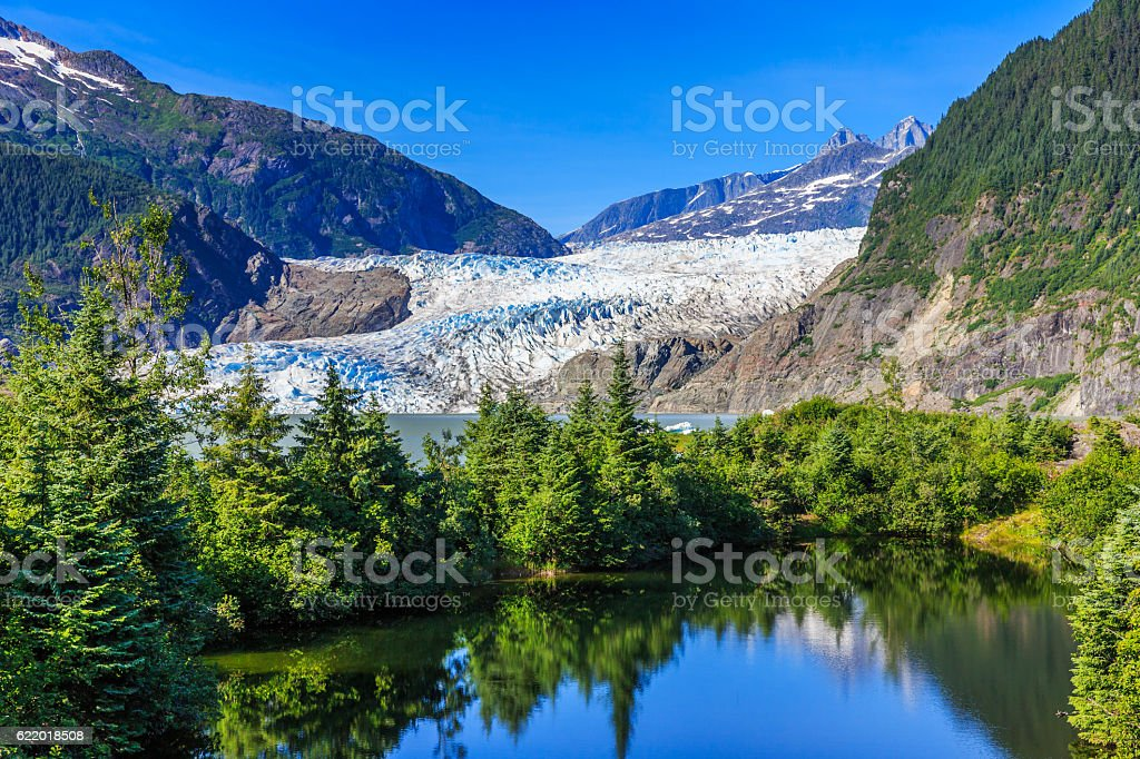 Juneau, Alaska. Mendenhall Glacier stock photo