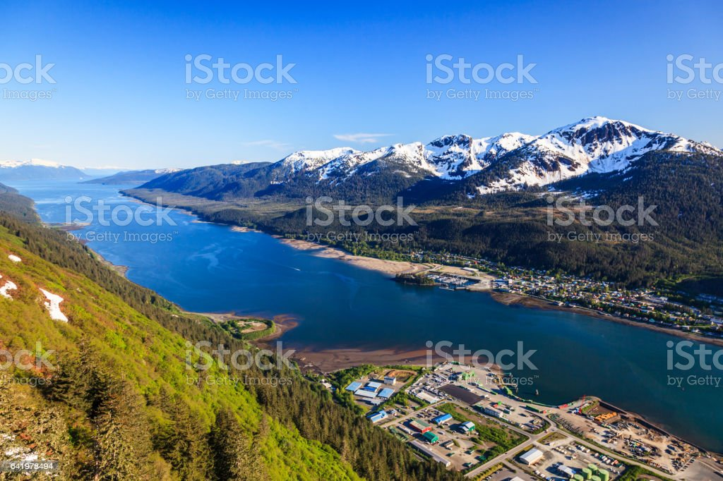 Juneau, Alaska. stock photo