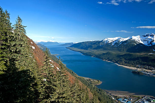 juneau port - alaska us state stock photos and pictures