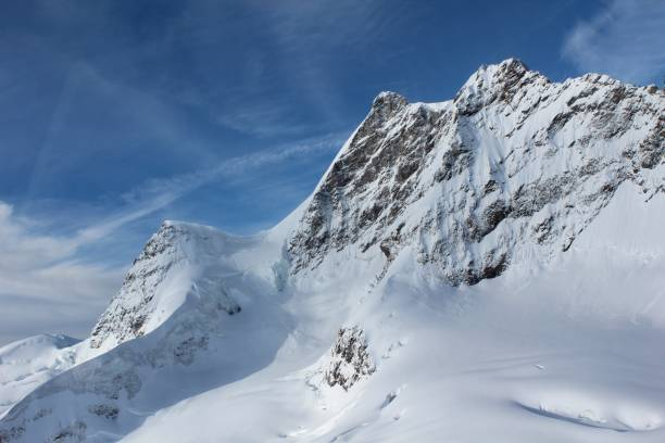 Vistas al glaciar Jungfrau desde la parte superior - foto de stock