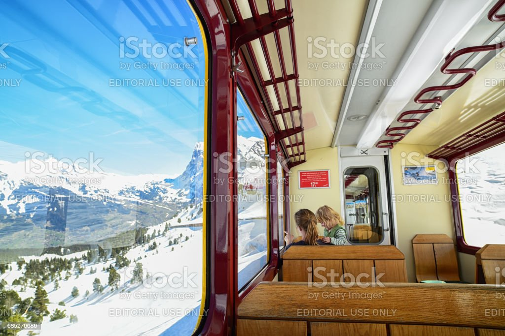 Jungfrau Train, Switzerland stock photo