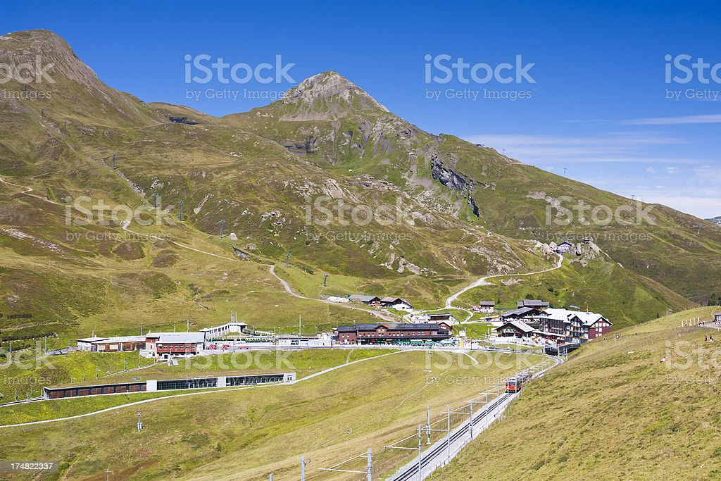 Jungfraubahn And Kleine Scheidegg, Swiss Alps royalty-free stock photo