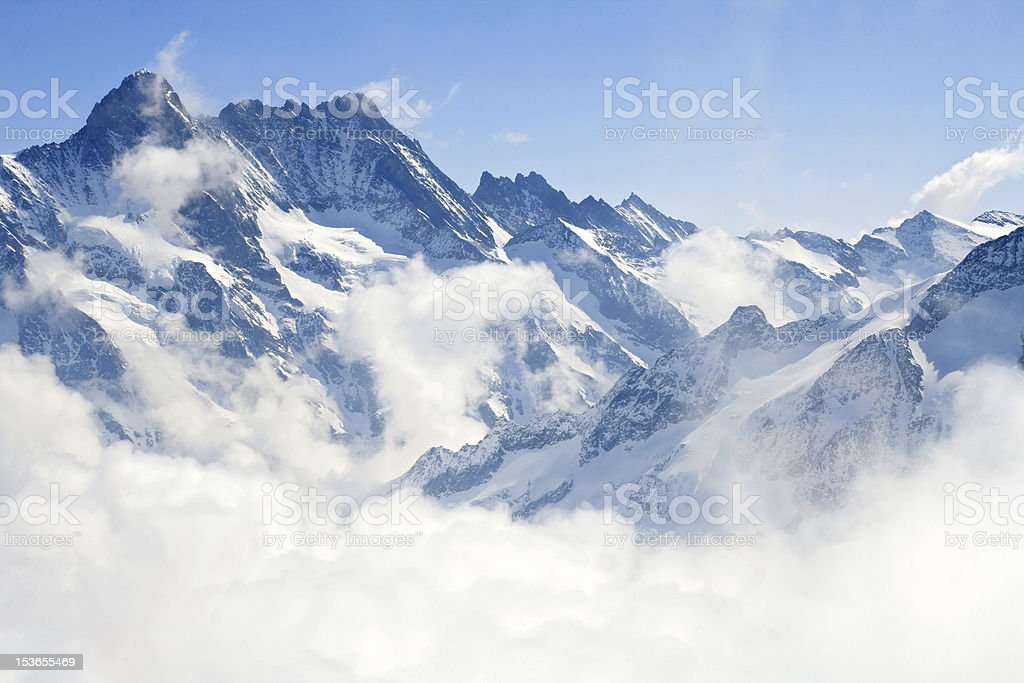 Jungfraujoch Alps mountain landscape royalty-free stock photo