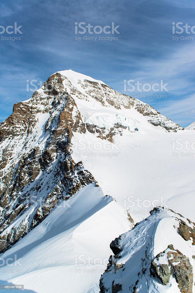 Jungfraujoch, Part of Swiss Alps Alpine Snow Mountain royalty-free stock photo