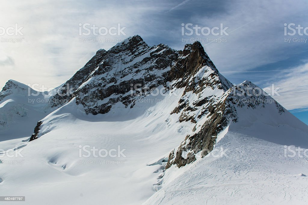 Jungfraujoch, Part of Swiss Alps royalty-free stock photo