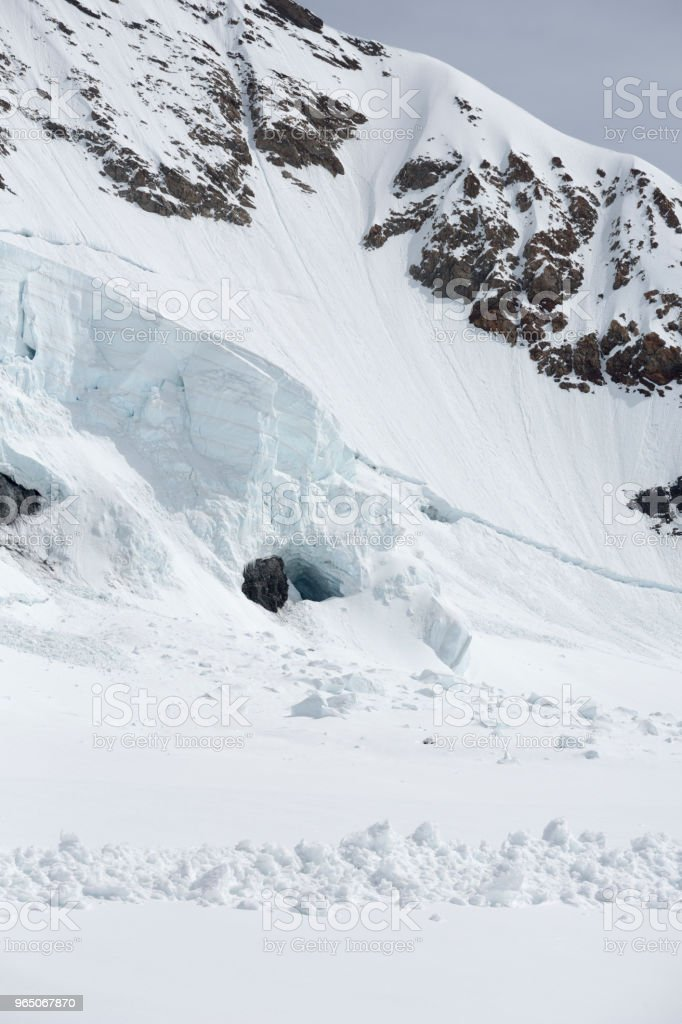Jungfraujoch Swiss Alps Ice Cave, Switzerland royalty-free stock photo
