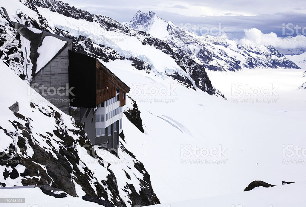 Jungfraujoch - 'Top of Europe' in Swiss Alps . royalty-free stock photo