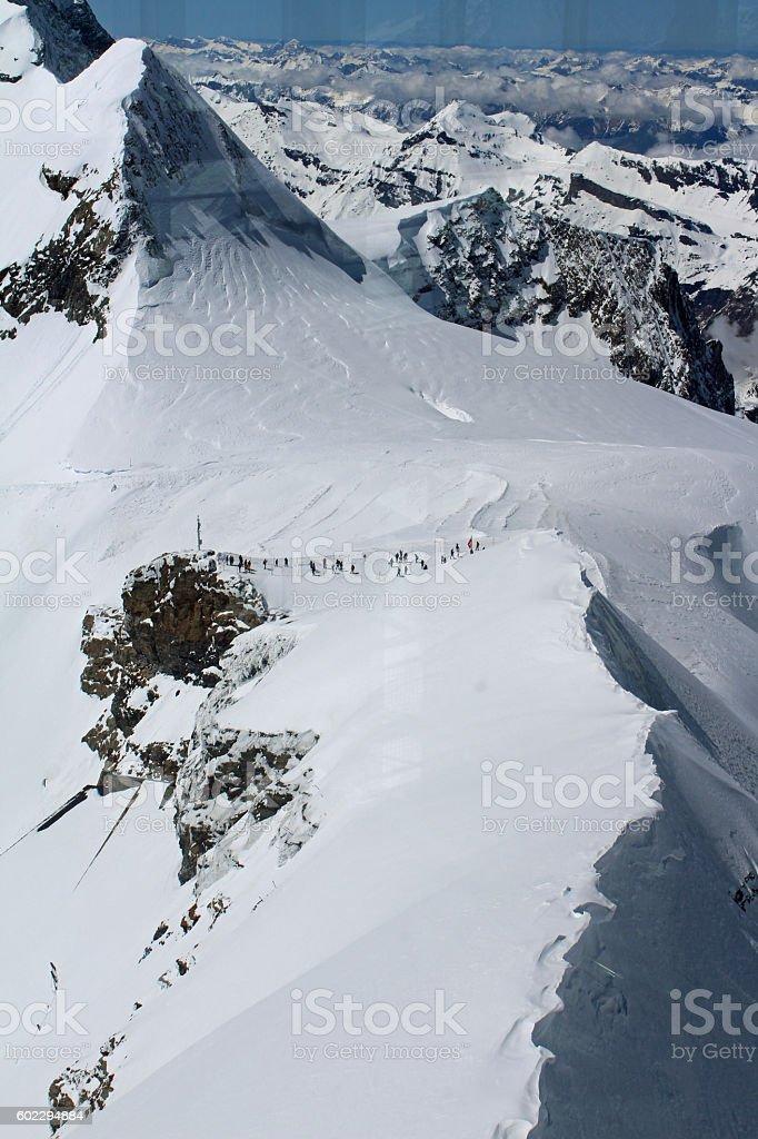 Jungfraujoch, top platform view stock photo