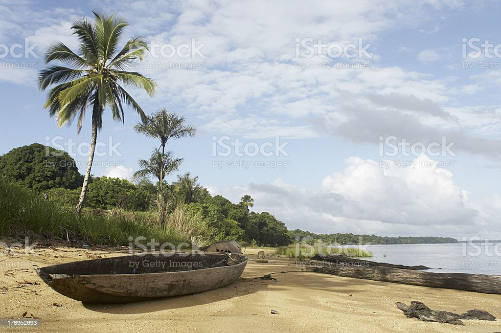Jungle Beach royalty-free stock photo