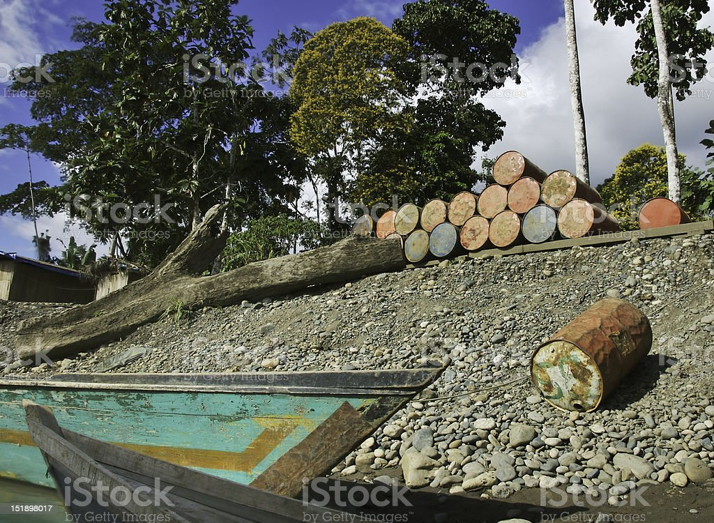 Jungle gas dock stock photo