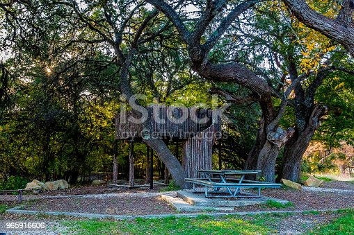 A Kids Jungle Gym and Picnic Table for Family Fun in Woodland Park Area.