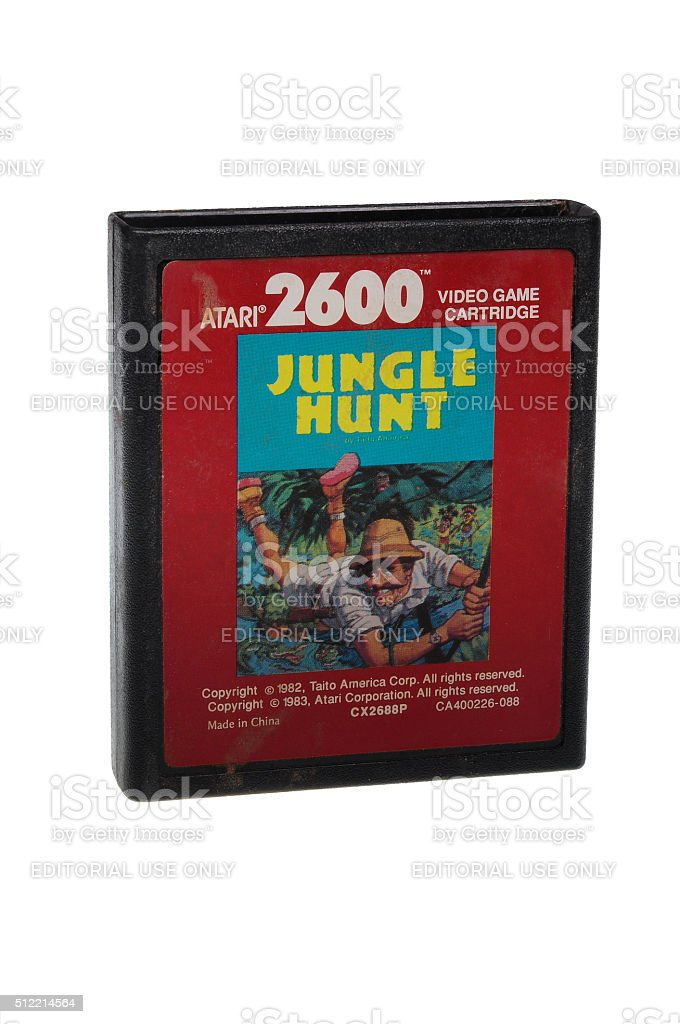 Dschungel Hunt Atari 2600 Spiel Cartiridge – Foto