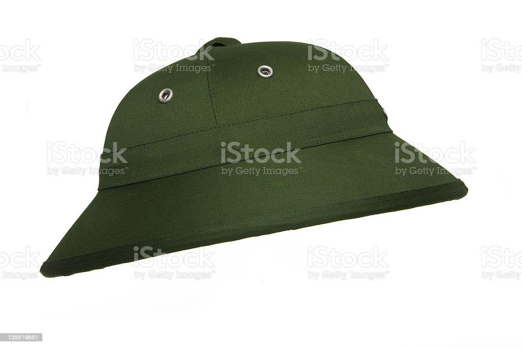 Jungle pith helmet stock photo